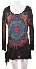 DESIGUAL Womens Tunic Dress Size 18 XL Black  FD09