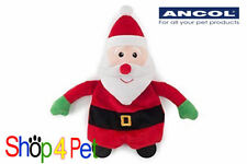 SQUEAKY DOG TOY ANCOL FATHER CHRISTMAS  stuffed SOFT with CRINKLE PAPER for pet