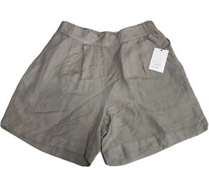 A New Day Womens Linen Blend Pull On Shorts Size XS Pockets