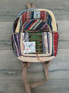 Gringo Fairtrade Hemp & Cotton Gheri Backpack - Faulty