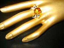 Hand Crafted Golden Bead With Crystals Size 7