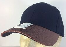 Football With Laces Brim Baseball Sports Cap Hat Legacy Cotton Trucker Black