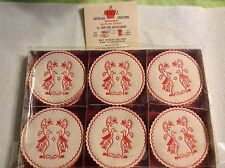 53 Vintage Royal Catch-All Paper Coasters Wax Bottom Birds Flowers