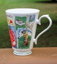 Lovely Roy Kirkham England Fine Bone China Tea / Coffee Mug *1997 Golf *Motifs