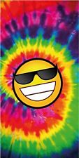 Smile Face Tie Dye Beach Bath Pool Gym Towel Usa Kids Happy Faces Cool 30x60