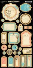 """NEW 2014 Graphic 45 """"COME AWAY WITH ME"""" Chipboard #1 - 6""""x12"""" Sheet 4500928"""