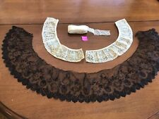 Antique Black Lace, Vintage Lace Collar & A Length Of Old Lace