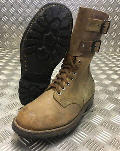Genuine French Foreign Legion Brown Leather / Suede Army Boots Size 40 NEW FB303
