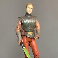 "Rare Star Wars Clone Padme Amildala & Green Lightsaber 3.75"" Action Figure Toy"