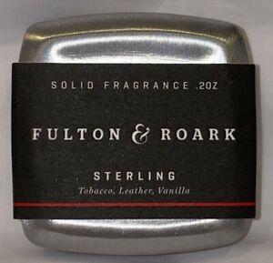 Fulton & Roark Sterling Solid Cologne .2 oz  Tobacco, Leather, Vanilla