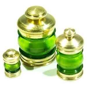 Model-boat-fitting-1x-Brass-Masthead-Lamp-360-degrees Green Lens 5 sizes