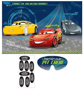 Disney Pixars CARS 3 PARTY GAME POSTER Birthday Supplies Decorations
