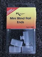 RV Designer Collection A300 Mini Blind Rail Ends 2 Pack