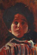 Fine unique Art Noveau Secession portrait oil painting signed Gustav Klimt w COA