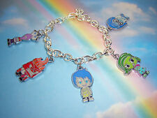 INSIDE OUT CHARACTER THEMED CHARMS BRACELET ANGER FEAR JOY SADNESS DISGUST