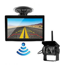 """Wireless Waterproof Night Vision Rear View Backup Camera+5"""" Monitor for RV Truck"""