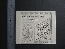 Derby Tobacco 1900 Advertising