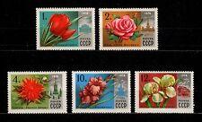 USSR RUSSIA STAMP Mint 1978. Full Set  Flowers. Fleurs URSS