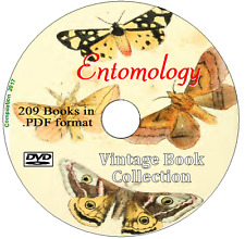 Entomology 209 Rare Old Vintage Books on DVD Insect Study Collection Specimens