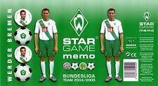 MEMO SPIEL -  WERDER BREMEN - Bilder der Bundesliga 2004/05 - 32 Bildpaare