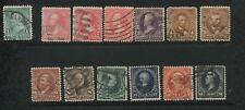 1895 US Stamps #264-276 Used F/VF Postal Canceled Watermark 191 Set