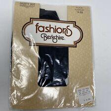 Berkshire Stockings Pantyhose Black Dainty DOT Sandalfoot NEW Average Sz VTG