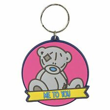 Me to You Round PVC Key Ring Gift Pink Keys Accessory - Tatty Teddy Bear