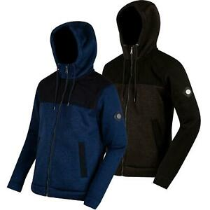 Regatta Mens Ryne Full Zip Bonded Fleece Hooded Jacket Coat Hoodie