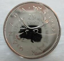 1988 CANADA 25 CENTS PROOF-LIKE QUARTER COIN
