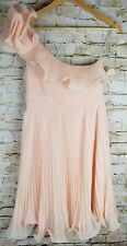 Forever 21 Sz M Peach Pink One Shoulder Party Cocktail Formal Dress Wedding