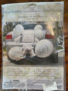 Just Married Car Decorating Kit, Wedding, Honeymoon Decorations FREE Shipping