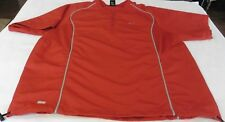 Dri Fit Shirt - 1/4 Zip - Adj. Waist - Running/Casual/Exercise Size L - Red (L)