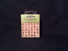 NEW Antique Alphabet ABC Uppercase Wood Mounted Rubber Stamps Image Tree