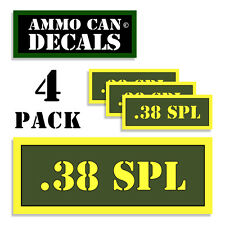 38 SPL Ammo Can Stickers 4x .38 Special Ammunition Gun Case Label Decal 4pack AG