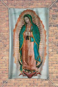 3 x 5' Vinyl Indoor Outdoor Banner Our Lady of Guadalupe