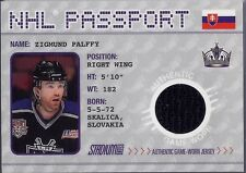 ZIGMUND PALFFY 2002-03 Topps Stadium Club JERSEY NHL Passport Card SP  LA Kings