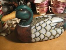 Wood Duck Hand Painted Signed Nick A. Decoy?