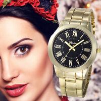 Luxury Women Geneva Watch Ladies Stainless Steel Quartz Analog Dial Wrist Watch