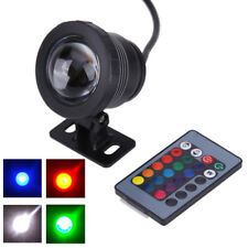 5/10W RGB LED Light Fountain Pool Pond Spotlight Waterproof + Remote ghy