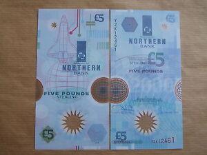 NORTHERN  BANK  £5  NOTE  POLMER, 2000, Y2K , UNCIRCULATED