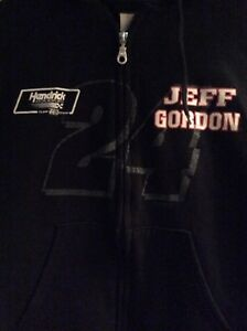 Rare Jeff Gordon #24 Hoodie Full Zip Sweatshirt NASCAR Size Small (6-8)