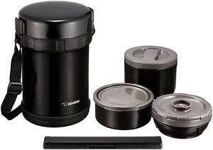 Zojirushi Japan Stainless Thermos Food Jar Lunch Box Navy Black SL-GH18-BA