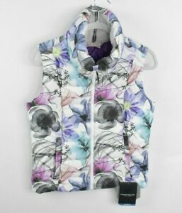 NEW OBERMEYER Womens Zip Up Dawn Insulator Vest Size Medium $129 Foral DWR