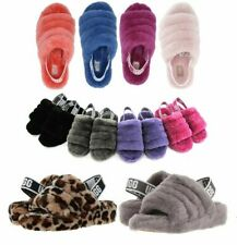 Auténtico Ugg suave pelusa sí diapositiva Zapatillas De Mujer Zapato Sandalia Color diferente