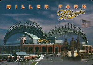 Miller Park, Milwaukee Brewers, Wisconsin - Beautiful  5 x 7 Stadium Postcard