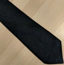 Gents SMART contemporanea nero funerale Cravatta da Debenhams misto lana fine