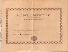 RARE => BANQUE L. DUPONT & Cie à VALENCIENNES (NORD 59) (P)