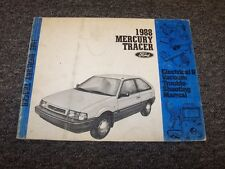1988 Mercury Tracer Hatchback Electrical Wiring & Vacuum Diagram Manual LS