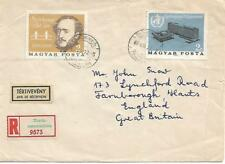 Hungary 1966 Registered Cover With 2 Stamps To England My Ref 1168