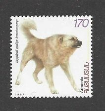 Guard Dog Art Body Portrait Postage Stamp Anatolian Shepherd Dog Armenia Mnh